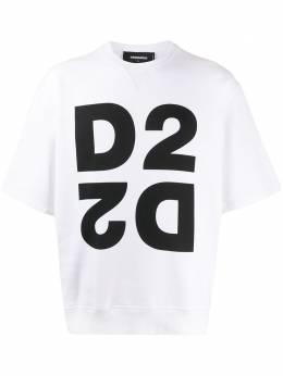 Dsquared2 толстовка Mirrored D2 с короткими рукавами S74GU0404S25042