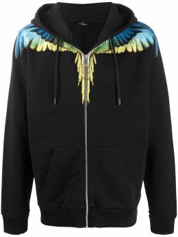 Marcelo Burlon County Of Milan худи на молнии с принтом Wings CMBE001S20FLE0011015