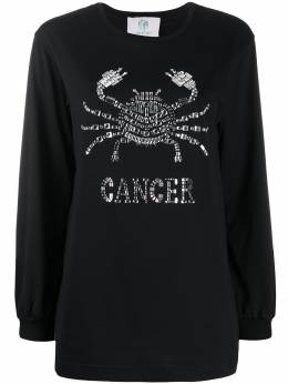 Alberta Ferretti джемпер Cancer с кристаллами J1201172