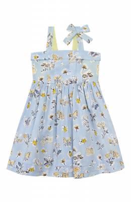 Хлопковое платье Il Gufo P20VA253C4059/5A-8A