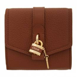 Chloe Brown Small Aby Wallet CHC20SP315B71