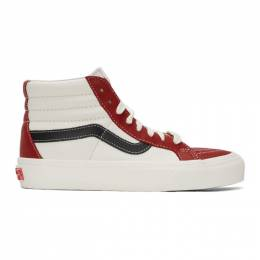 Vans Red and Off-White Sk8-Hi Reissue VI Sneakers VN0A4BVHXHT