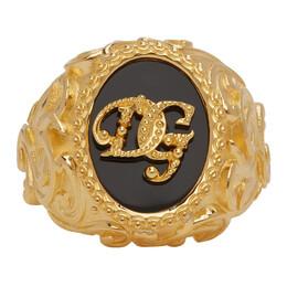 Dolce&Gabbana Gold Logo Ring WRM1L1 W1111