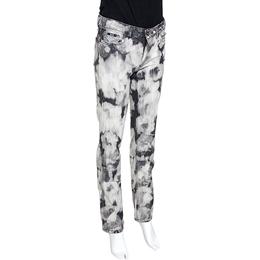 D&G Grey Acid Washed Denim Straight Fit Jeans S Dandg 277014