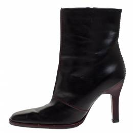 Tod's Black Leather Pointed Toe Ankle Boots Size 38 276866
