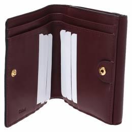 Chloe Burgundy Leather Small Georgia Multi Flap Wallet 276664