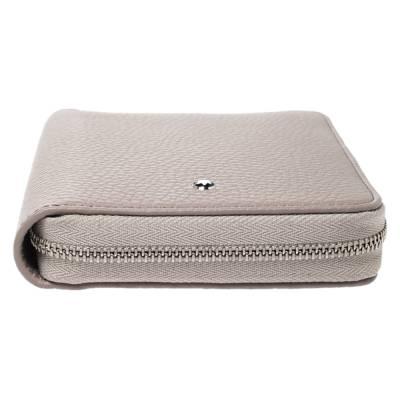 Montblanc Beige Leather Zip Around Wallet 276769 - 7