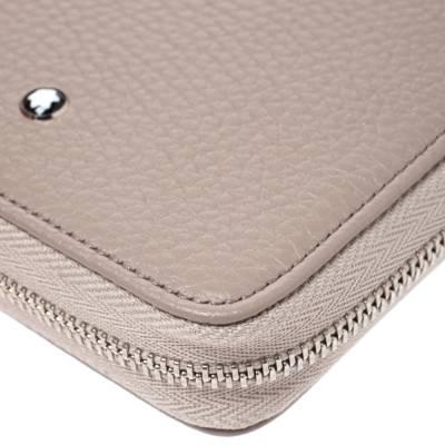 Montblanc Beige Leather Zip Around Wallet 276769 - 10
