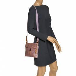 Prada Pink Python and Nylon Messenger Bag 276782