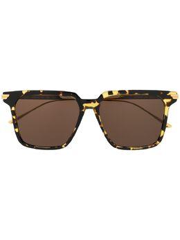 Bottega Veneta Eyewear солнцезащитные очки в массивной квадратной оправе 608438V4450