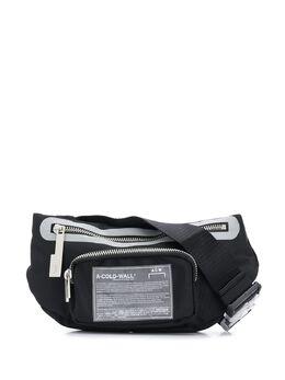 A-Cold-Wall* поясная сумка на молнии с логотипом UG001WHLBL