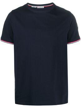 Moncler футболка с отделкой в полоску G10918C7160087296