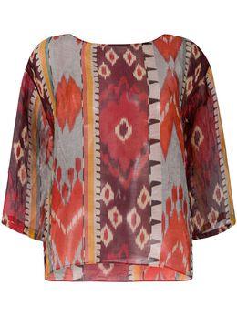 Forte_Forte блузка с абстрактным принтом 7301MYSHIRT