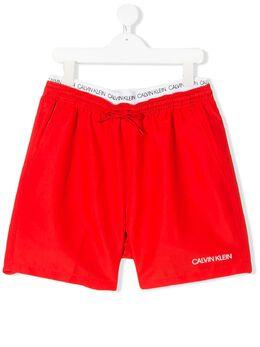 Calvin Klein Kids плавки-шорты с многослойным поясом B70B700231XBG