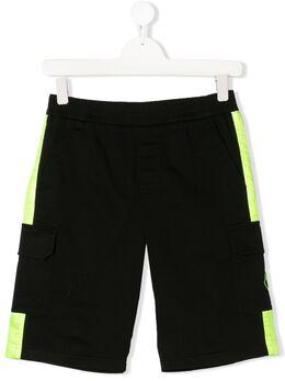 Moncler Kids шорты-бермуды с лампасами F19542B7002054A1U