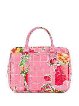 Comme Des Garcons Girl сумка-тоут с цветочным принтом на молнии NEK201051S2