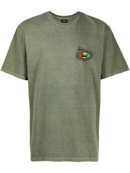 Stussy футболка Irie Vibrations с круглым вырезом 1904523
