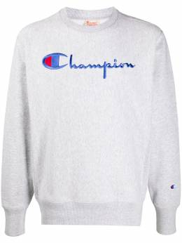 Champion толстовка с круглым вырезом и вышитым логотипом 215169EM004