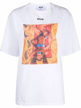 MSGM футболка свободного кроя с принтом 2842MDM279207498