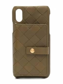 Bottega Veneta чехол для iPhone Х с плетением Intrecciato 593026VCPP3