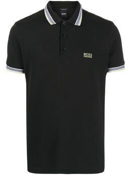 Boss by Hugo Boss рубашка-поло с короткими рукавами и вышитым логотипом 5039830210212415