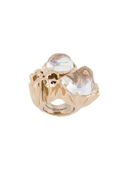 Tory Burch кольцо Roxanne с кристаллами 63306