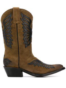 Ash ботинки в стиле вестерн с нашивками PABLO03