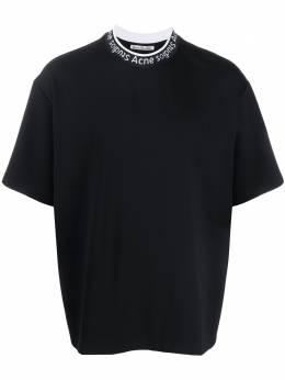 Acne Studios футболка с круглым вырезом и логотипом BL0141
