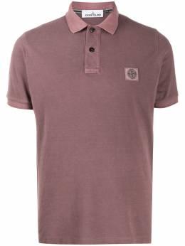 Stone Island рубашка-поло с нашивкой-логотипом MO721522S67