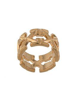 Off-White кольцо с логотипом OWOC007S20MET0017600
