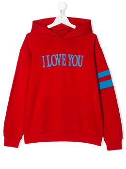 Alberta Ferretti Kids худи I Love You 022149
