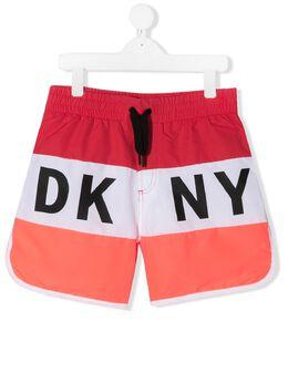DKNY Kids плавки-шорты с логотипом D24717977