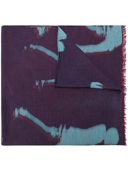 Paul Smith шарф с бахромой и абстрактным принтом M1A219FAS23