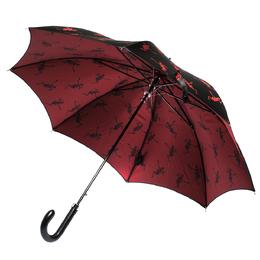 Alexander McQueen Black Dancing Skeleton Print Nylon Long Umbrella 277242
