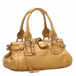 Chloe Yellow Leather Paddington Bag