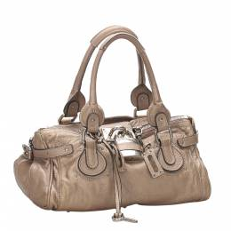 Chloe Brown/Beige Leather Paddington Bag