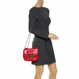 Chloe Red Python Small Elsie Shoulder Bag