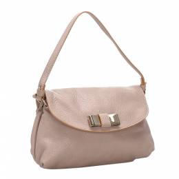 Chloe Beige Leather Lily Shoulder Bag