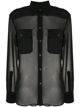 Polo Ralph Lauren полупрозрачная блузка с нагрудным карманом 211792510001