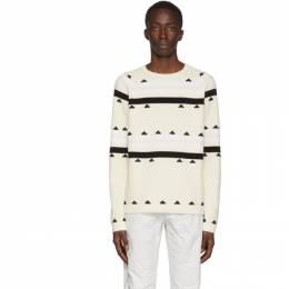 Moncler Genius 2 Moncler 1952 Beige Striped Sweater 9C706 - 10 - V9112