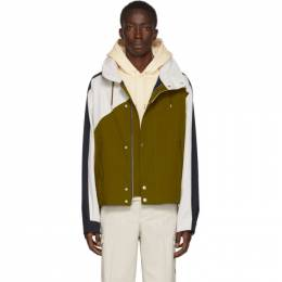 Kenzo Green and Navy Short Nauticial Coat FA55BL6501NX