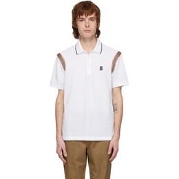 Burberry White Kian Icon Stripe Polo 8025870