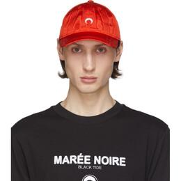 Marine Serre Red Moire Logo Cap A008SS20M