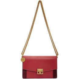 Givenchy Pink and Burgundy Mini GV3 Bag BBU00KB033