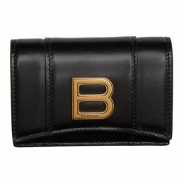 Balenciaga Black Mini Hourglass Wallet 600212-1QJ4M