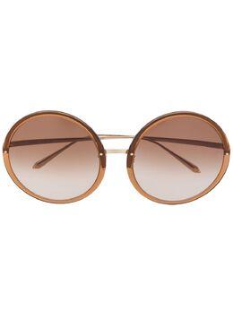 Linda Farrow солнцезащитные очки Kew в круглой оправе LFLC457C34SUN