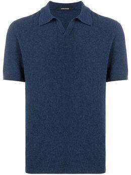 Tagliatore фактурная рубашка-поло тонкой вязки KARL545GSE2016