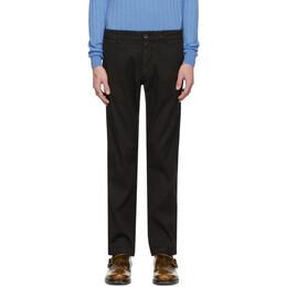 Barena Black Linen Rubio Trousers PAU2639-3102