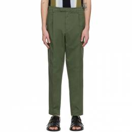 Barena Khaki Masco Stino Trousers PAU2649-2412