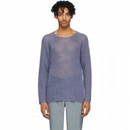 Giorgio Armani Purple Hemp Sweater 3HSM16 SM28Z UA1V